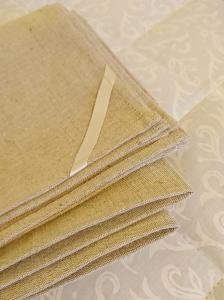 Natural baby bed flat sheet 70x140 cm